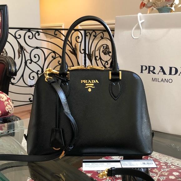 b43c81eba015 Prada Bags | Authentic Patent Leather Black Handbag | Poshmark